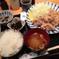 【西新宿ランチ】「ひさご」にて唐揚げ定食。できたてアツアツでジューシーな唐揚げ!