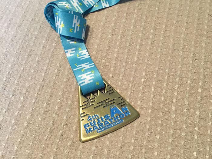 富士山マラソン名物のメダルも嬉しい!